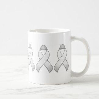 White Awareness Ribbon Mug