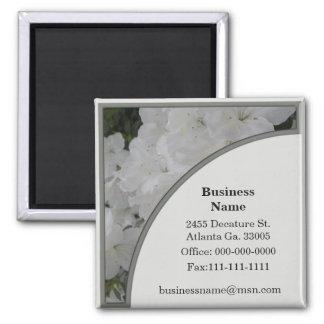 White Azalea Business Magnets