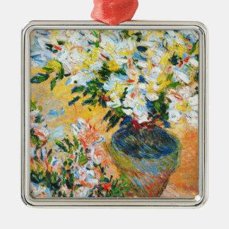 White Azaleas in a Pot 1885 Claude Monet Ornament