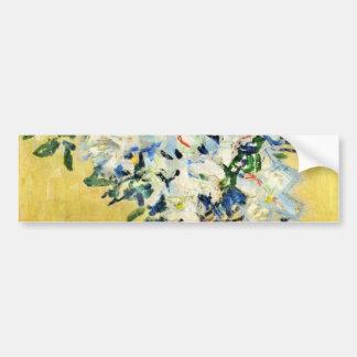 White Azaleas in a Pot -  Claude Monet Bumper Sticker