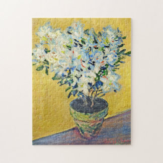 White Azaleas in a Pot Monet Fine Art Jigsaw Puzzle