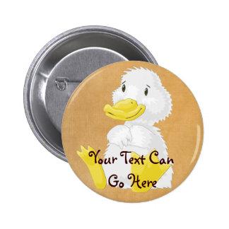 White baby duckling Button