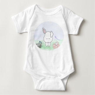 White Baby Jersey Suit T Shirts