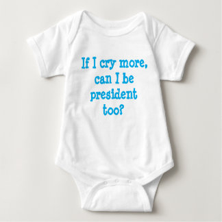 white baby suit with pro-democratic caption baby bodysuit