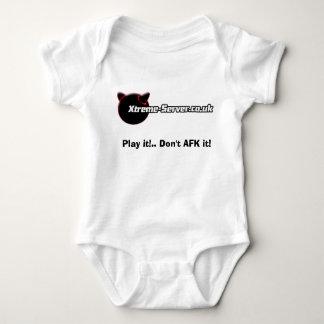 white babygro, Play it!.. Don't AFK it! Baby Bodysuit