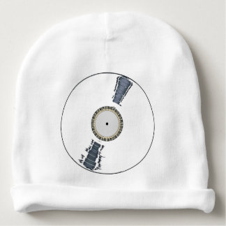 White Background Record Baby Beanie