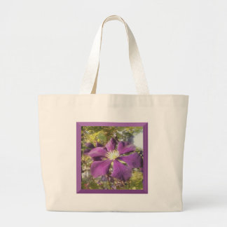 White Bag Passionate Purple Flower