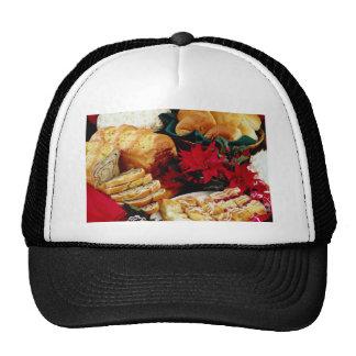 White Baked goods flowers Mesh Hats