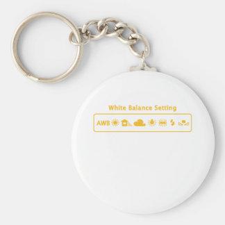 White Balance Basic Round Button Key Ring