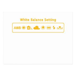 White Balance Post Card