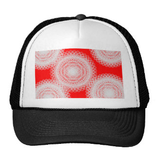 white ball in red abstract art cap