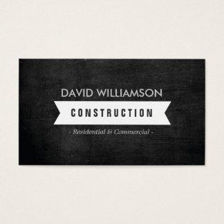 WHITE BANNER CONSTRUCTION, BUILDER, ARCHITECT LOGO