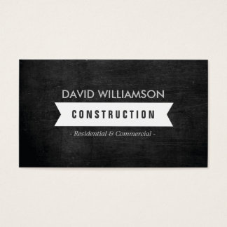 WHITE BANNER CONSTRUCTION, BUILDER, ARCHITECT LOGO BUSINESS CARD