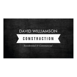 WHITE BANNER CONSTRUCTION, BUILDER, ARCHITECT LOGO PACK OF STANDARD BUSINESS CARDS