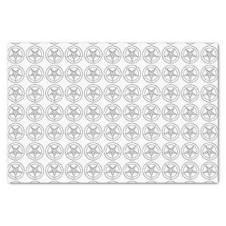 White Baphomet tissue paper