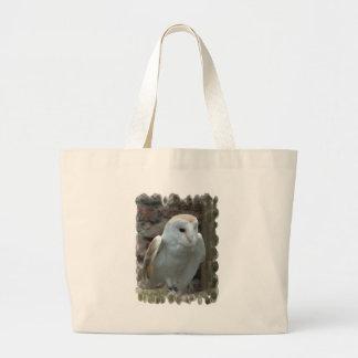 White Barn Owl  Canvas Tote Bag