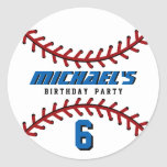 White Baseball Sticker Sports Team Birthday Party