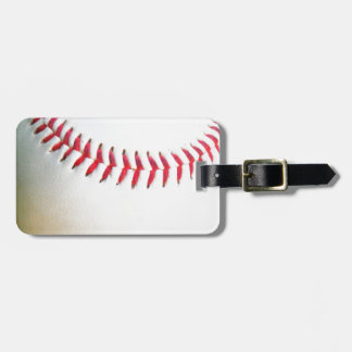 White Baseball with Red Stitching Luggage Tag