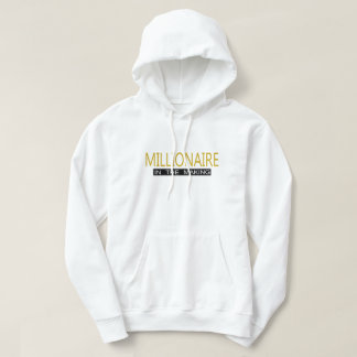 White Basic Hooded Sweatshirt - Millionaire