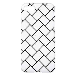 White Basket Weave 2 iPhone 7 Case