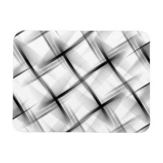 White basket weave texture. rectangular photo magnet