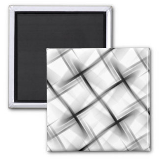 White basket weave texture. square magnet
