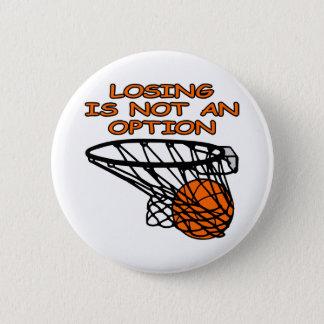 White Basketball Losing Not Option 6 Cm Round Badge