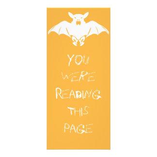 White Bat Bookmark Template Rack Card Template