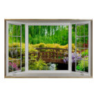 White Bay Window Illusion - Colourful Scenery Poster