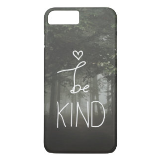 White Be Kind Quote Cute Heart Typography Girly iPhone 8 Plus/7 Plus Case