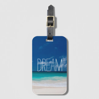 White Beach, Blue sky and Dream Luggage Tag