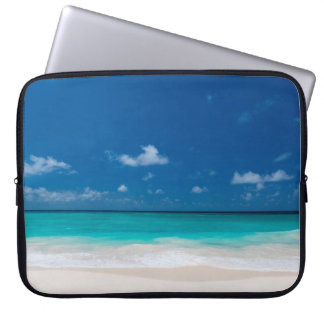White Beach,  Blue Sky and Turquoise water Laptop Sleeve