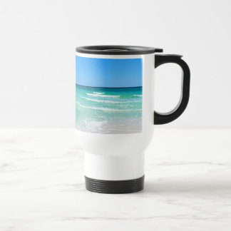 White Beach Stainless Steel Travel Mug