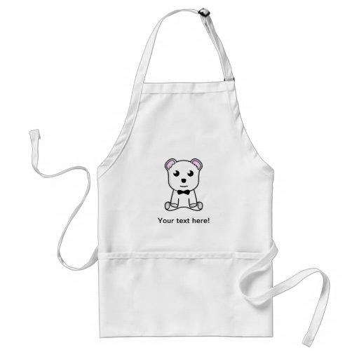 White bear cartoon apron