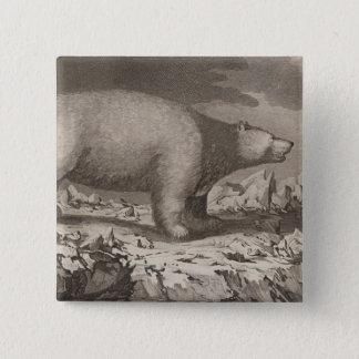 White bear in Alaska 15 Cm Square Badge