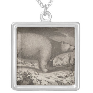 White bear in Alaska Silver Plated Necklace