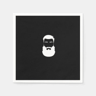 White Beard Paper Napkins