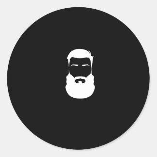 White Beard Sticker