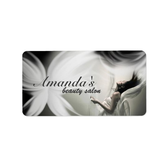 White Beauty Industry Avery Label - Office Supply Address Label
