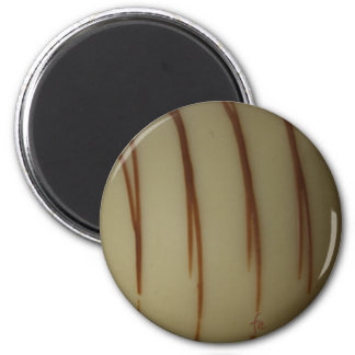 white Belgian chocolate 6 Cm Round Magnet