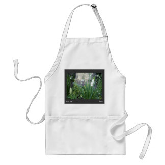 White Bell Flowers w/tulip Standard Apron