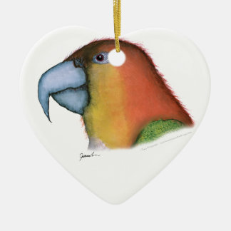 white bellied caique, tony fernandes christmas ornament