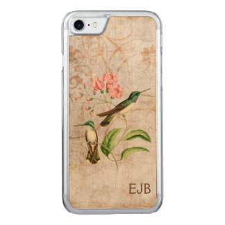 White Bellied Mountain Gem Hummingbird Monogram Carved iPhone 8/7 Case