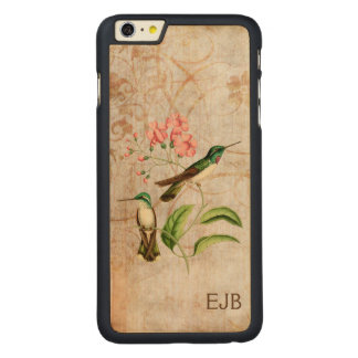 White Bellied Mountain Gem Hummingbird Monogram Carved® Maple iPhone 6 Plus Case