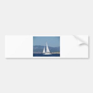 White Beneteau Sloop Bumper Sticker