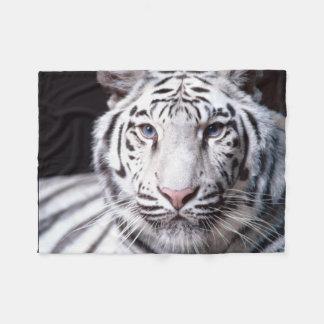 White Bengal Tiger Image Fleece Blanket