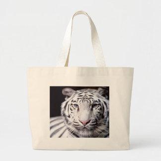 White Bengal Tiger Jumbo Tote Bag
