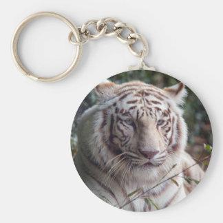 White Bengal Tiger Key Ring