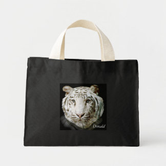 White Bengal Tiger Mini Tote Bag