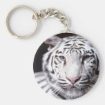 White Bengal Tiger Photography Key Chains